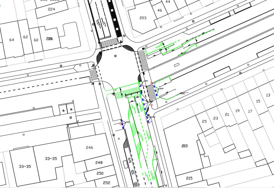Compcter kruispunt Krijgslaan - Doornstraat