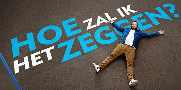 Foto van beginpancarte van het VTM-programma 'Hoe zal ik het zeggen?'