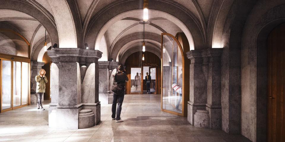 simulatiebeeld vernieuwde inkomhal stadhuis