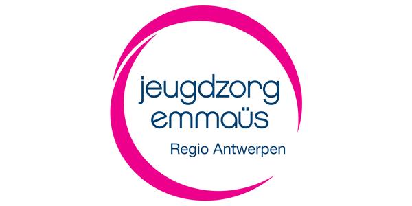 Het logo van Jeugzorg Emmaüs Regio Antwerpen.