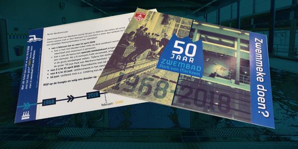 Postkaart die dezer dagen in elke Merksemse brievenbus valt