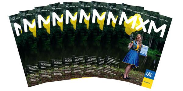 cover van magazine MXM, magazines uitgestald in een waaier