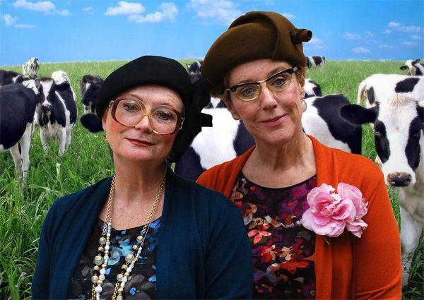 De actrices van 'Oude Koeien'