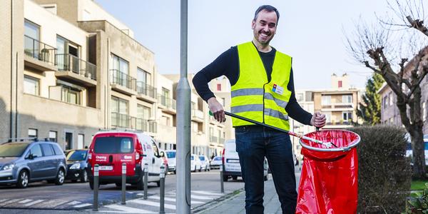 Foto van Wouter als straatvrijwilliger