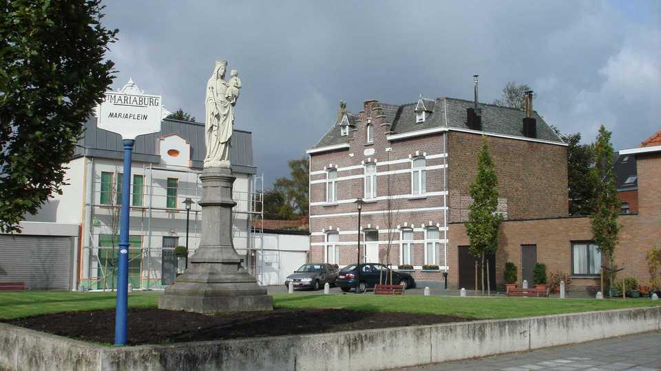 Mariaplein in Mariaburg, de wijk waar dit plan zich over uitspreekt.