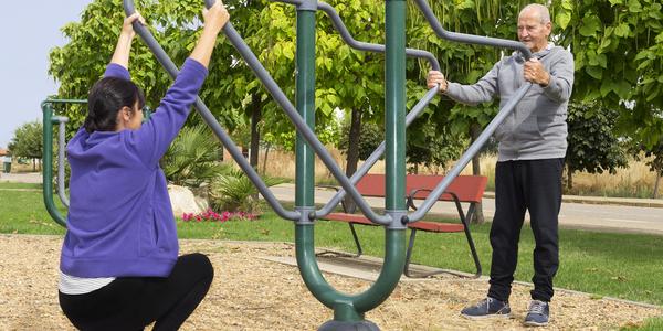 Fitnesstoestellen in het Vinkenpark
