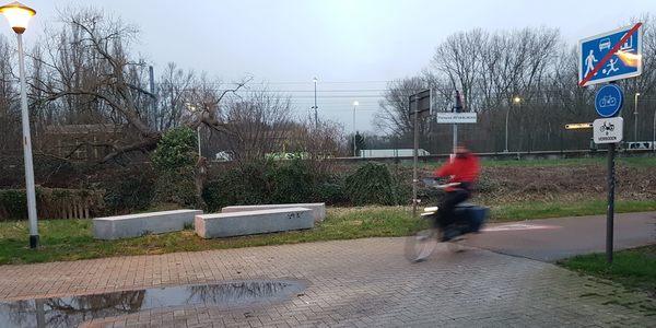 Jef Van Linden fietspad in de Commandant Van Laethemstraat