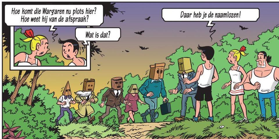 afbeelding uit de strip 'De Naamloze 9'