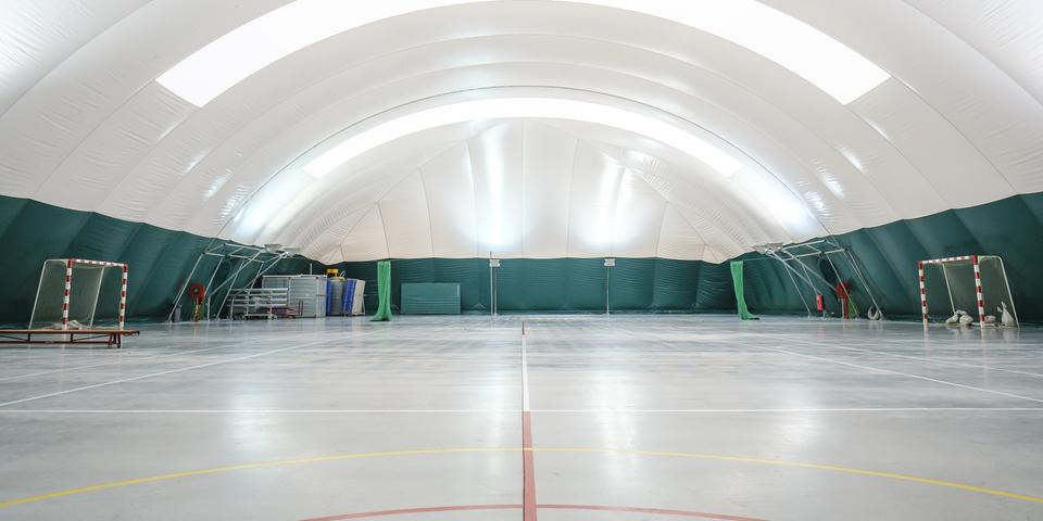 Binnenkant van de Buurtsportballon