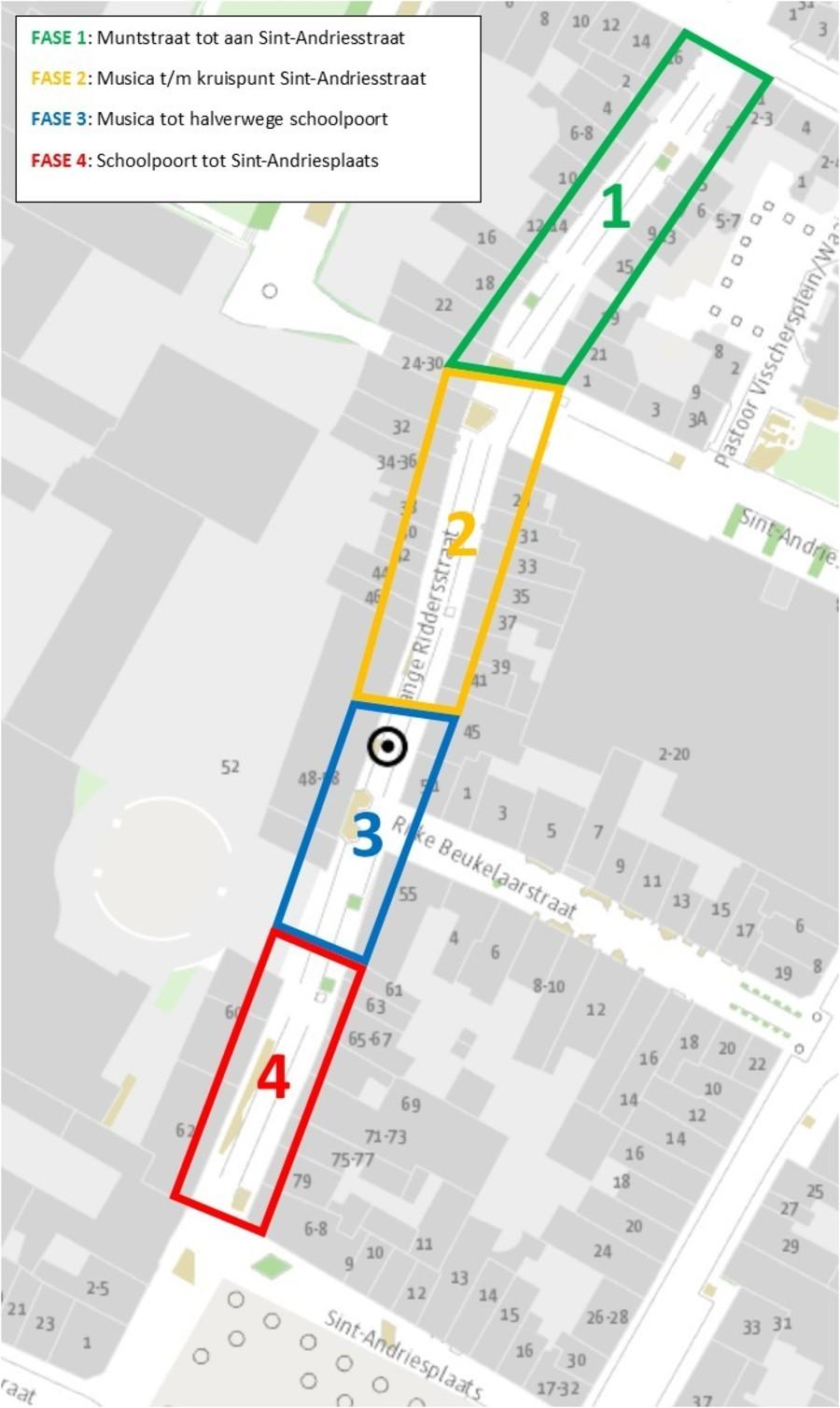 faseringsplan uitvoering Lange Riddersstraat