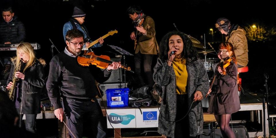 De band De Karavaan zorgde voor een streepje muziek