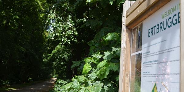Infobord over Ertbrugge