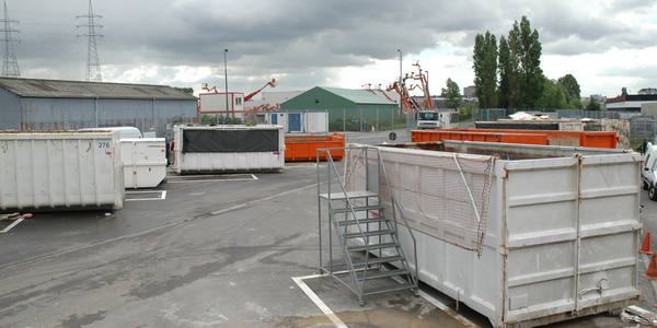 containers op het containerpark