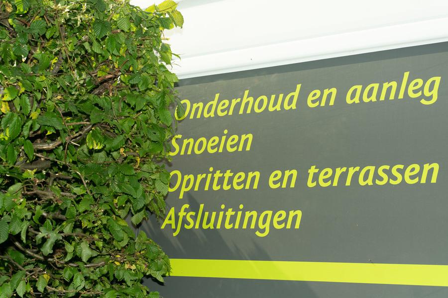 De camionet van Van Den Nieuwenhof