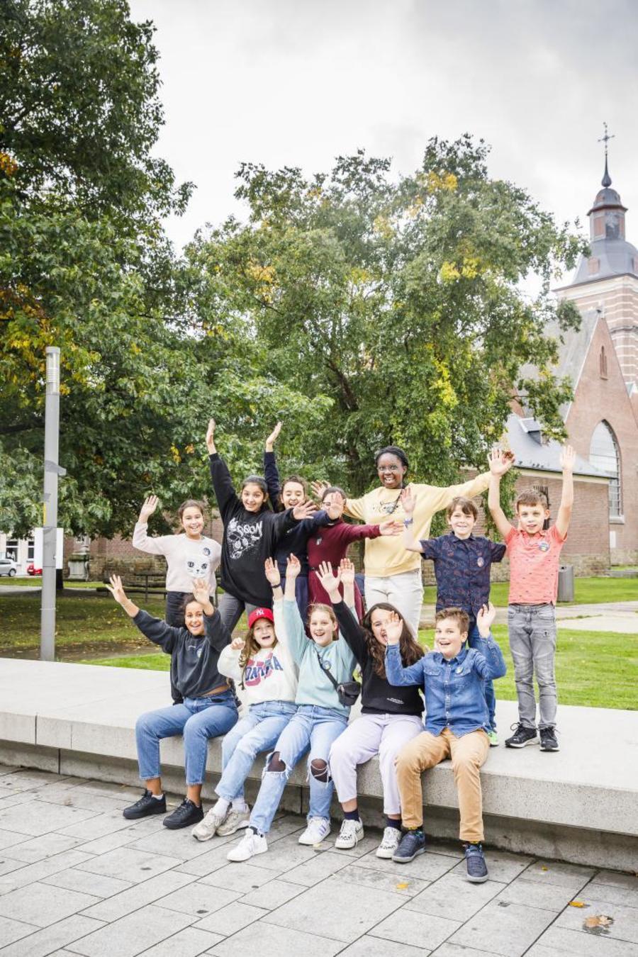Groepsfoto op het Burgemeester Nolfplein