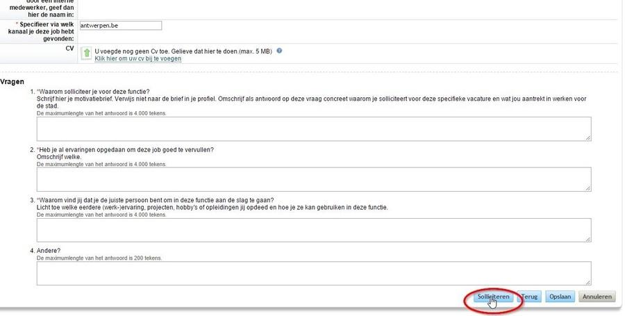 e mail sollicitatie Hoe digitaal solliciteren? Stappenplan   Welkom   Antwerpen.be