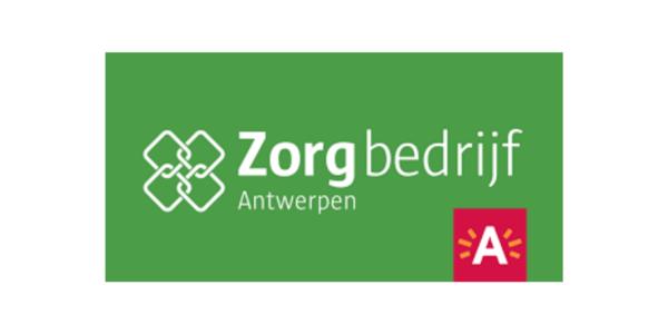 Het logo van het Zorgbedrijf Antwerpen.