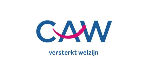 Het logo van CAW.