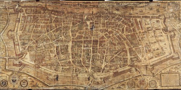 Kaart die even oud is als het stadhuis is vanaf 24 april te bewonderen in Plantin Moretus