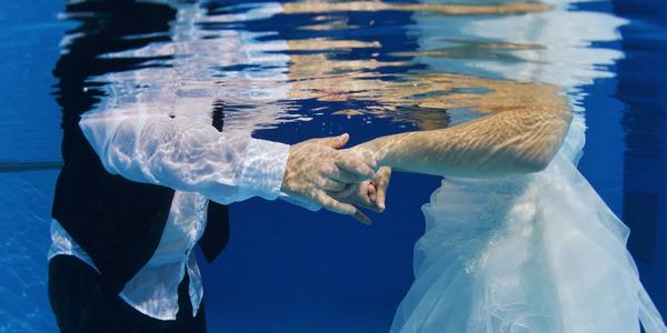 Geliefden onder water