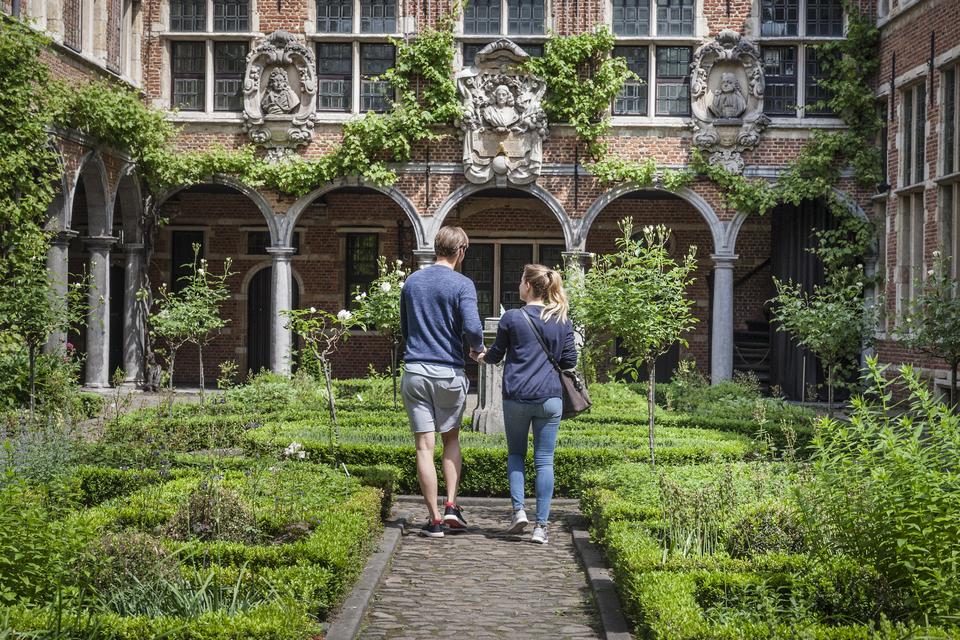 binnentuin van Museum Plantin-Moretus