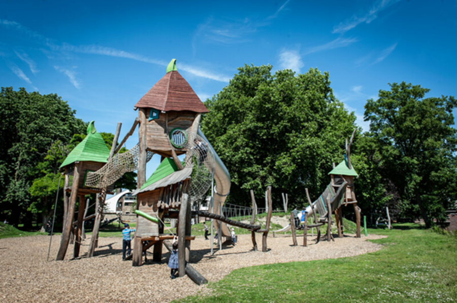 Speeltuin in Mastvestpark, een van de projecten van werfleider Chris