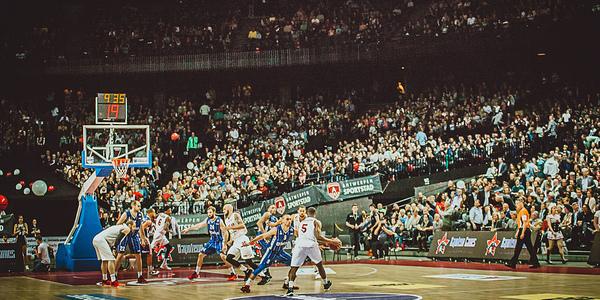 Antwerp Giants in volle actie in het Sportpaleis