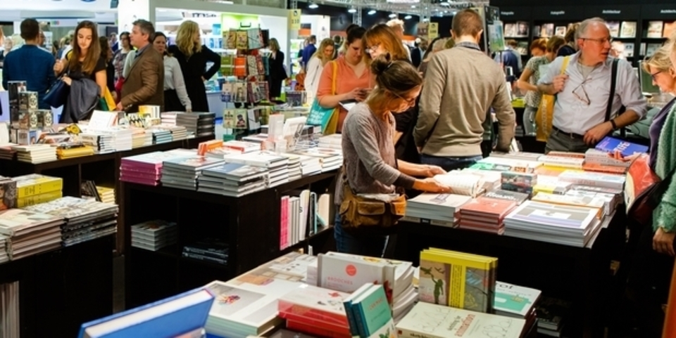 Bezoekers op de Boekenbeurs