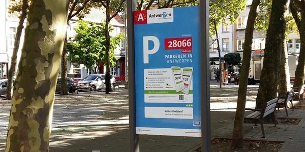 Parkeerborden vervangen op bepaalde plaatsen de parkeerautomaat