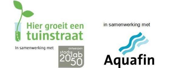 logo's Tuinstraat, Stadslab 2050 en Aquafin