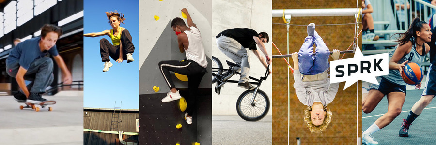 Montage van verschillende urban sporten