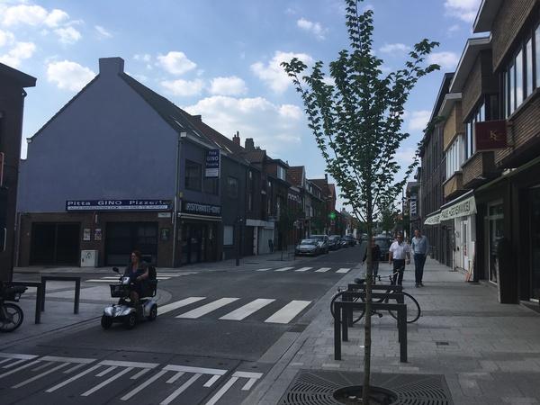 Het nieuwe kruispunt Kloosterstraat - Molenstraat