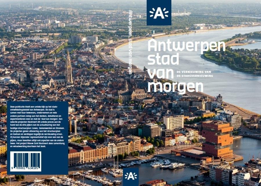 Cover van de vakpublicatie 'Antwerpen, stad van morgen. De vernieuwing van de stadsvernieuwing'