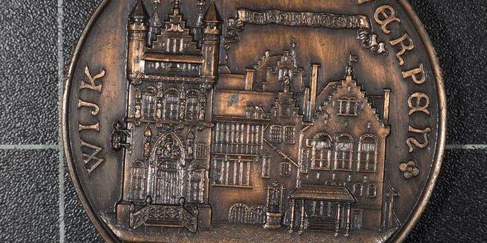 Penning uitgegeven ter gelegenheid van de Wereldtentoonstelling 1894 in Antwerpen (1609#94)