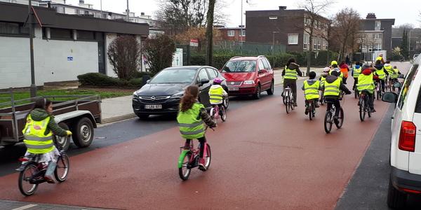 De Ruimtevaartstraat is in 2017 ingericht als fietsstraat