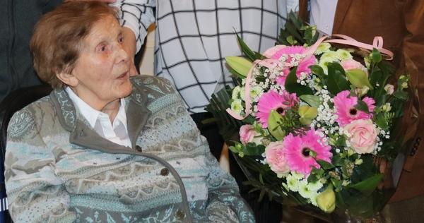 Maria Verstrepen werd in de bloemetjes gezet