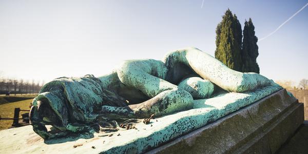 grafmonument op begraafplaats Schoonselhof