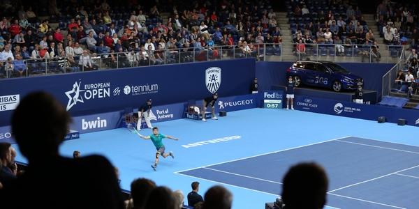 Goffin in actie op de European Open in 2017