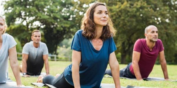 Yoga in het Brilschanspark