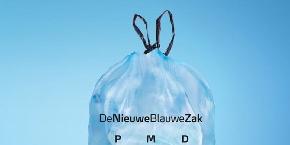 De nieuwe blauwe zak