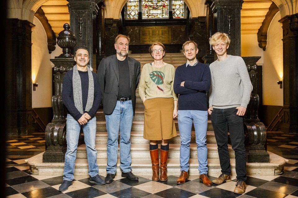 Districtscollege Borgerhout: Omar Al Jattari, Luc Moerkerke, Marij Preneel, Ben Segers, Ben Van Duppen