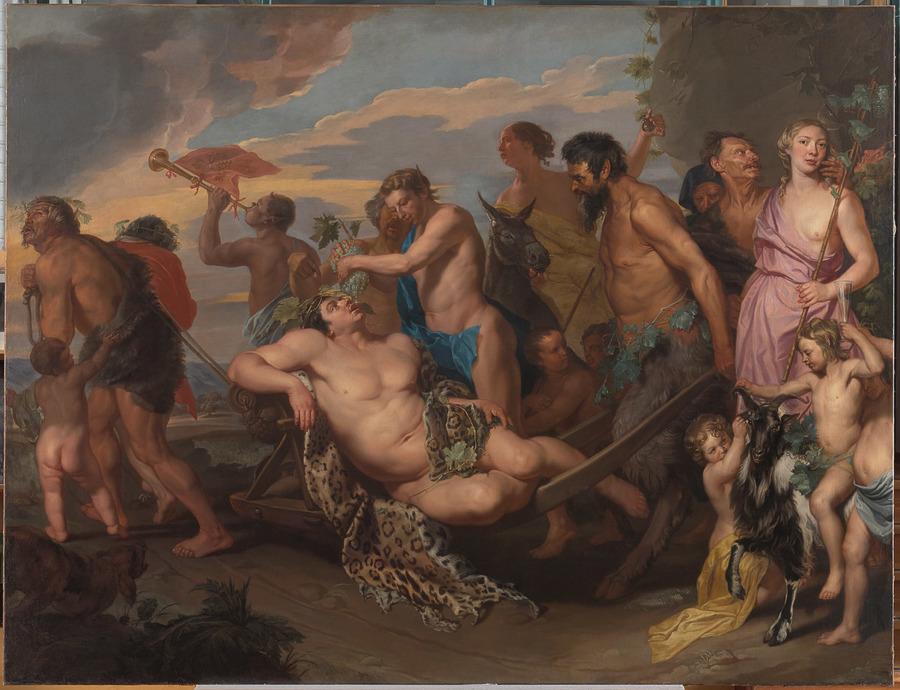 schilderij Bacchusstoet van Wautier
