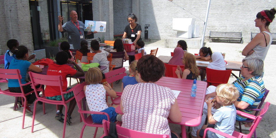 kinderactiviteit in bibliotheek Permeke