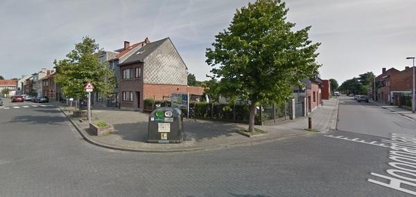 Zicht van streetview op het kruispunt tussen Hoogpadlaan en Oudebaan