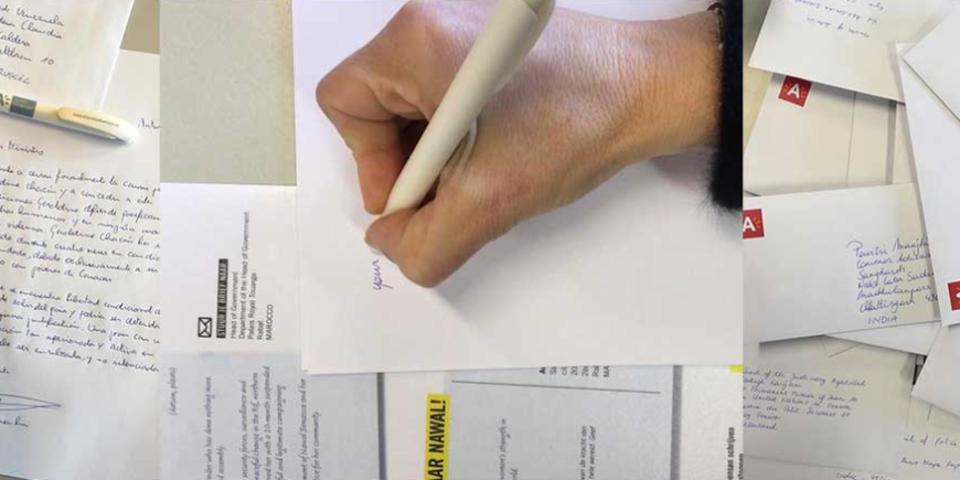 Handgeschreven brieven voor de schrijfmarathon