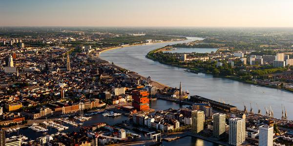 overzicht van de stad Antwerpen