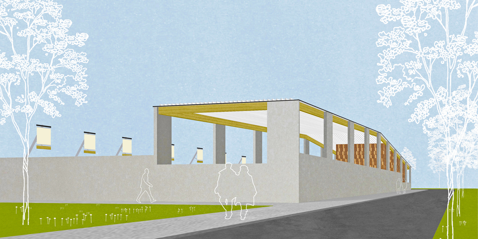 render containerpark Luchtbal