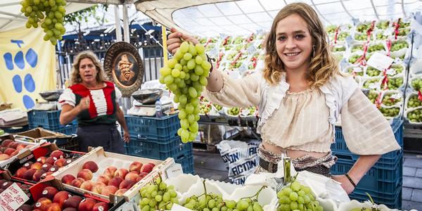 Marktkraamster op de Rubensmarkt