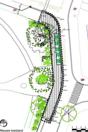 Plan nieuwe toestand Distelhoek - Sluitberg