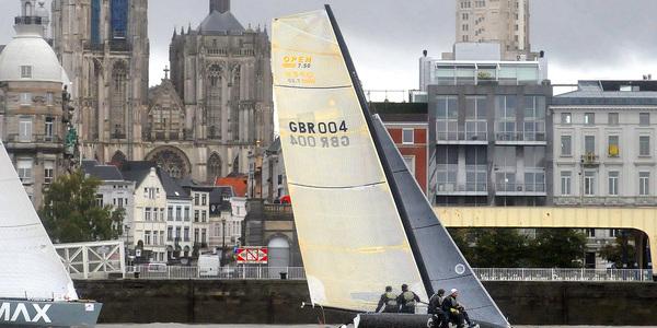 zeilrace op de Schelde